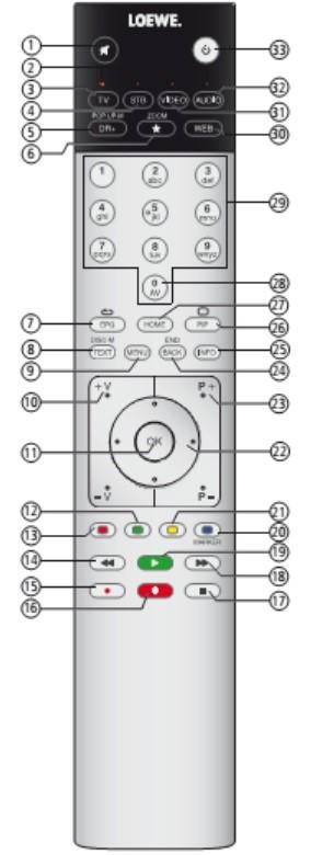 Loewe TV Remote Control
